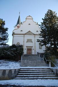 Metzerlen Kirche Winter